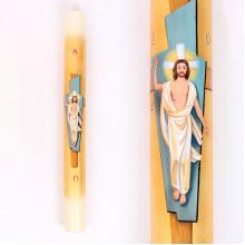 Círio Pascal com Cristo